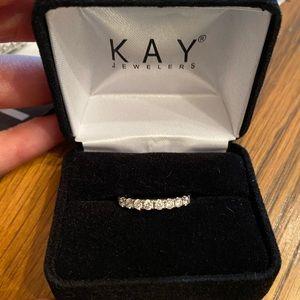 The Leo diamond band 0.45cts 14k white gold